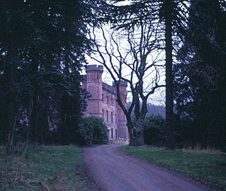 Harviestoun - Image: Harviestoun Castle from Western Driveway c.1968