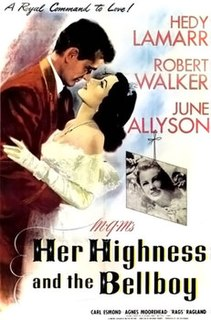 <i>Her Highness and the Bellboy</i> 1945 film by Richard Thorpe, Gladys Lehman, Richard Connell, Charles Walters