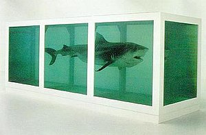 Young British Artists - The Physical Impossibility of Death in the Mind of Someone Living by Damien Hirst (1991). An iconic work of the YBA art scene.