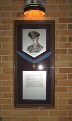 Horace S. Carswell, Jr.'s Medal of Honor on display at Texas A&M University