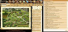 Full Illyriad interface in widescreen, focused on City map, with undocked Global chat on left
