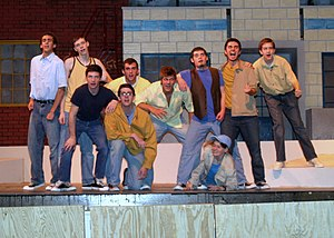 Bloomington High School North - The Jets sing along in the BHSN production of West Side Story in April 2006.