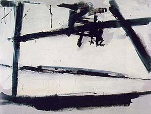 Action painting - Franz Kline, Painting Number 2, 1954, The Museum of Modern Art