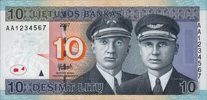 10 litų - Image: LTL 10 obverse (2007 issue)