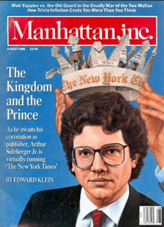 Manhattan, inc. - August, 1988 cover