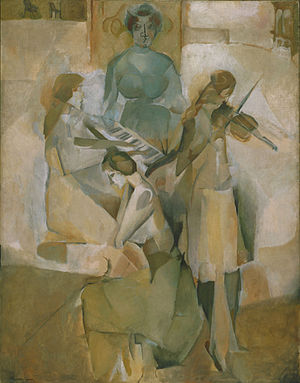 Société Normande de Peinture Moderne - Marcel Duchamp, 1911, La sonate (Sonata), oil on canvas, 145.1 x 113.3 cm, Philadelphia Museum of Art