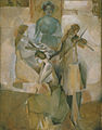 Marcel Duchamp, 1911, La sonate (Sonata), oil on canvas, 145.1 x 113.3 cm, Philadelphia Museum of Art.jpg