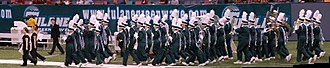 Tulane University Marching Band - The TUMB enters the field at halftime in 2008.