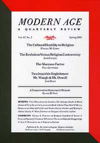 Modern Age (periodical) - Image: Modern age magazine cover