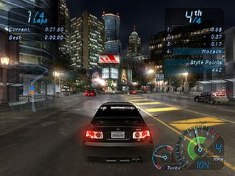 Need for Speed: Underground - A circuit race with a Honda Civic, PC version