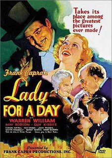 <i>Lady for a Day</i> 1933 film by Frank Capra