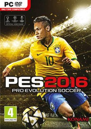 Pro Evolution Soccer 2016 - Portuguese Microsoft Windows cover featuring Neymar
