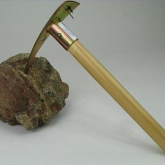 Prospecting - Example of a prospecting pickaxe.