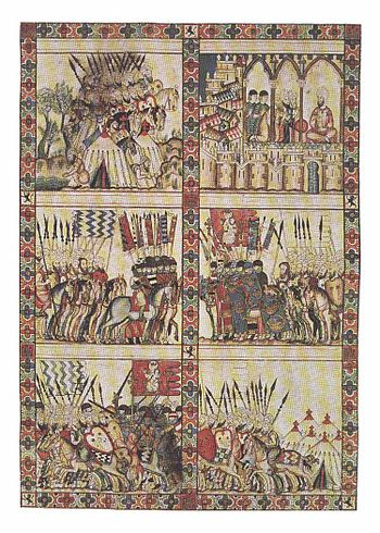 Example of a proto-comic strip from a 13th century Catalan manuscript.