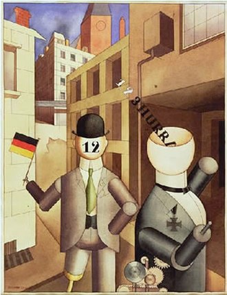 George Grosz - George Grosz, Republican Automatons, 1920, watercolor on paper, Museum of Modern Art, New York