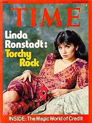 "Linda Ronstadt, on the cover of the February 28, 1977 issue of Time. Click on image and go to the ""Article"" and ""Summary"" section to read article and TIME reader's opinion on article."
