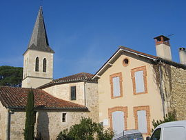 The church and surroundings in Roques