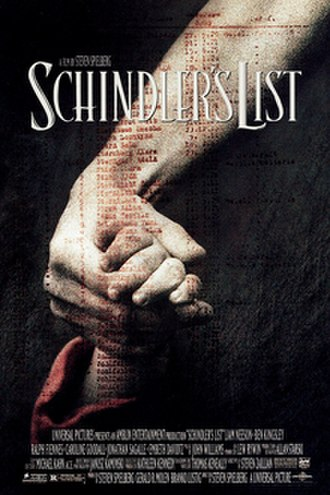 Schindler's List - Theatrical release poster