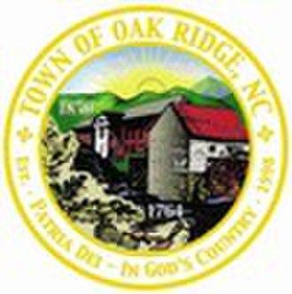 Oak Ridge, North Carolina - Image: Seal of Oak Ridge, North Carolina