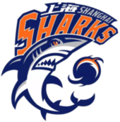 Shanghai Sharks .mw-parser-output .nobold{font-weight:normal}上海哔哩哔哩大鲨鱼 logo