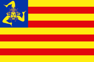 This is the flag of the Sicilian Independence ...