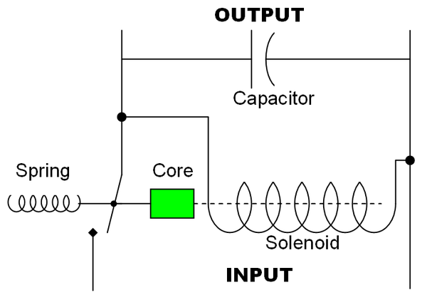 circuit design for a simple electromechanical voltage