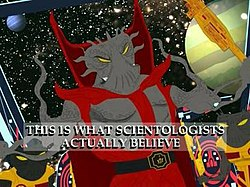 """Xenu in the episode """"Trapped in the Closet"""""""