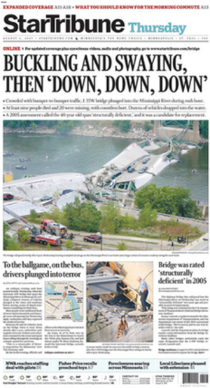 Star Tribune - Image: Star Tribune front page