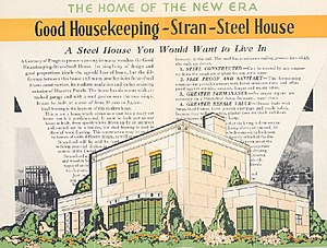 1933 Homes of Tomorrow Exhibition - Flier from the Good Housekeeping Stran-Steel Home tour