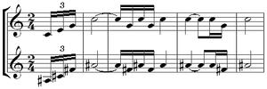 Polytonality - Image: Stravinsky petrushka fanfare