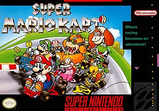 <i>Super Mario Kart</i> 1992 kart racing video game published by Nintendo