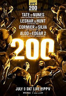 UFC 200 9th July 2016 480p 720p 1080p Lesnar Vs Hunt Tate Vs Nunes 7/9/16 Download watch Online
