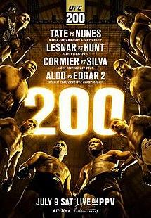 UFC 200 9th July 2016 480p 720p 1080p Lesnar Vs Hunt Tate Vs Nunes 7/9/16 Download watch Online