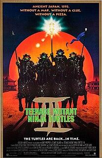 <i>Teenage Mutant Ninja Turtles III</i> 1993 American science fiction/martial arts live-action film directed by Stuart Gillard