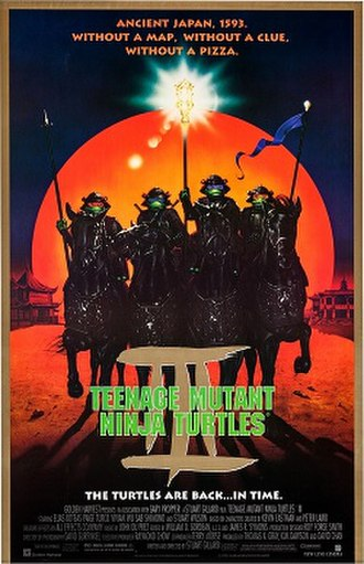 Teenage Mutant Ninja Turtles III - Theatrical release poster