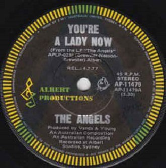 You're a Lady Now - Image: The Angels You're A Lady Now