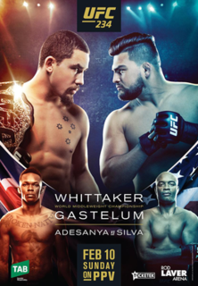 UFC 234 UFC mixed martial arts event in 2019