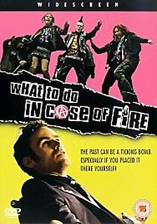 <i>What to Do in Case of Fire?</i> German film directed by Gregor Schnitzler