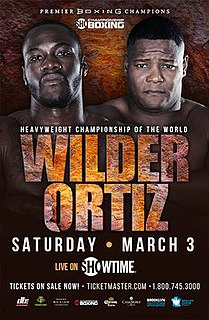 Deontay Wilder vs. Luis Ortiz Boxing competitions
