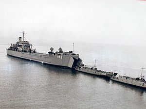 USS Wood County (LST-1178) and LCU-1612