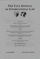 Yale Journal of International Law cover