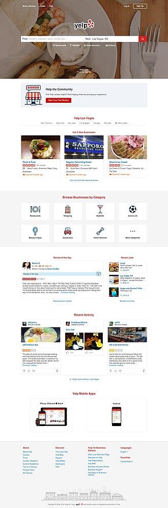 Yelp - Image: Yelp Screenshot