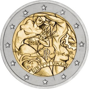 Italian euro coins - Image: €2 commemorative coin Italy 2008