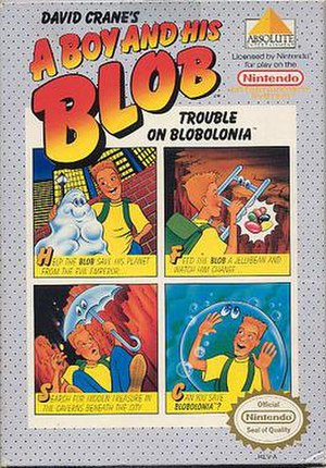 A Boy and His Blob: Trouble on Blobolonia - North American cover art