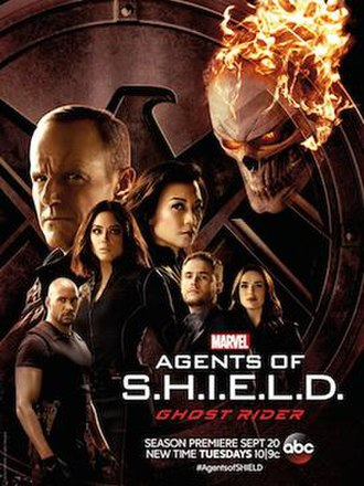 "Agents of S.H.I.E.L.D. (season 4) - Promotional poster for the season's first ""pod"", Ghost Rider"