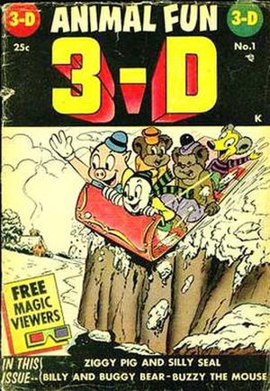 Ziggy Pig and Silly Seal - Animal Fun 3-D (Dec. 1953). Cover artist unknown.