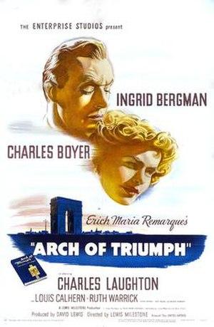Arch of Triumph (1948 film) - Film poster