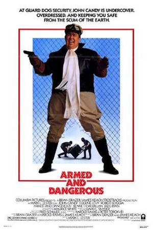 Armed and Dangerous (1986 film) - Theatrical release poster
