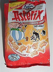 Asterix ham and cheese-flavored potato chips