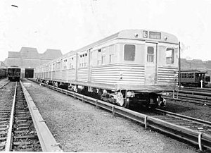 MS Multi-section car (New York City Subway car) - Image: BMT Zephyr